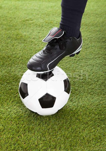 низкий ногу футбольным мячом играет Сток-фото © AndreyPopov