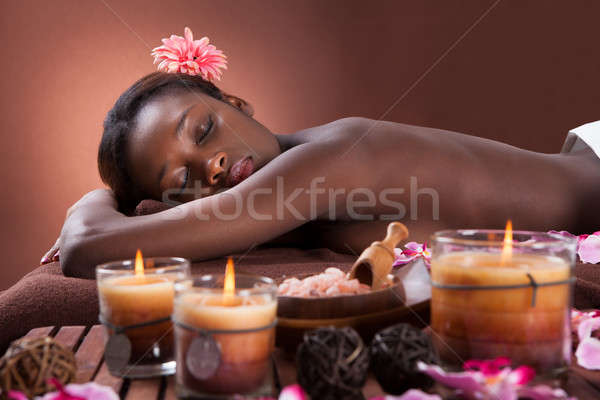 Woman Relaxing At Beauty Spa Stock photo © AndreyPopov