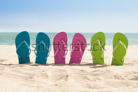 Three Pairs Of Flip-flops Stock photo © AndreyPopov