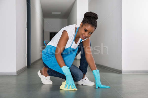 Woman Cleaning Floor Stock photo © AndreyPopov