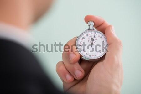Persona mano cronógrafo primer plano foto Foto stock © AndreyPopov