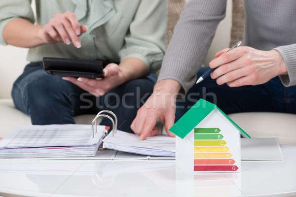 налоговых пару дома модель Сток-фото © AndreyPopov