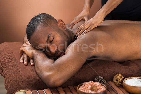 Stock photo: Man Receiving Massage Treatment