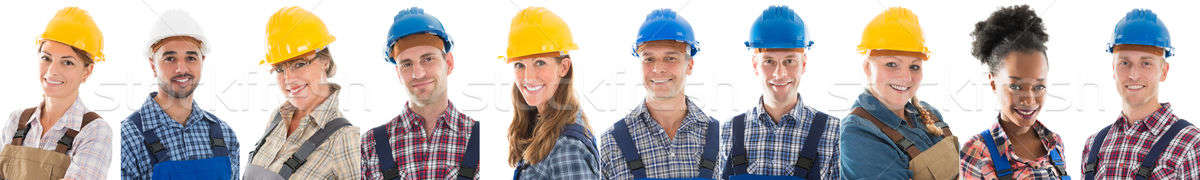 Group Of Construction Workers In A Row Stock photo © AndreyPopov