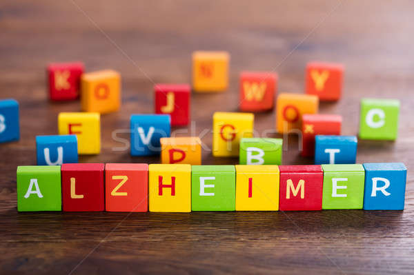 Alzheimer Text On Blocks Stock photo © AndreyPopov
