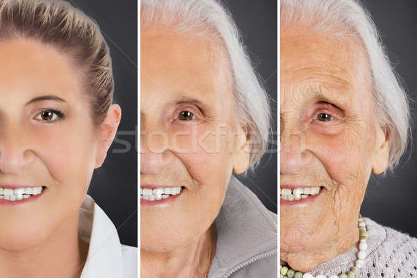 Multiple Image Showing Aging Process Of Woman Stock photo © AndreyPopov