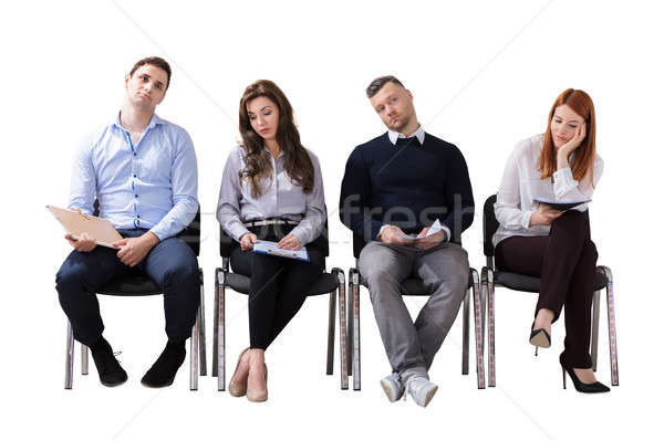 Bored Business People Waiting For Job Interview Stock photo © AndreyPopov