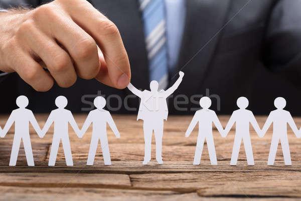 бизнесмен успешный бумаги исполнительного команда Сток-фото © AndreyPopov