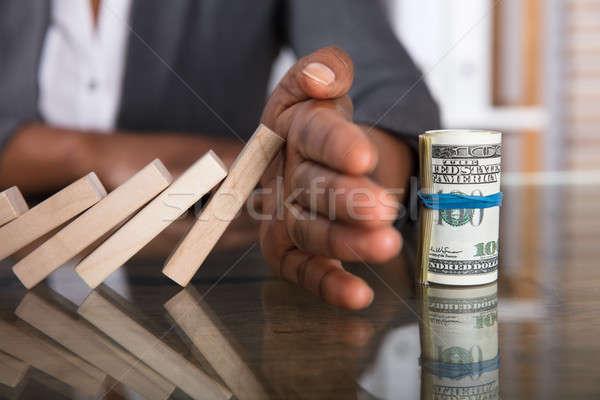 Main humaine relevant argent Photo stock © AndreyPopov