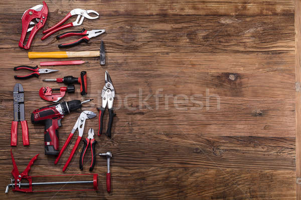 Elevated View Of Various Worktools Stock photo © AndreyPopov