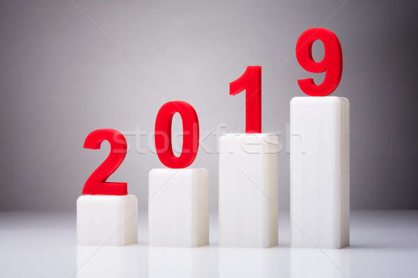 Year 2019 With Increasing Arrow Stock photo © AndreyPopov