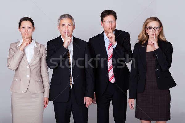 Quatro silêncio diverso em pé Foto stock © AndreyPopov