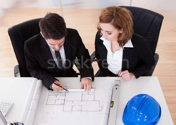 Porträt zwei aufrichtig arbeiten Büro Business Stock foto © AndreyPopov