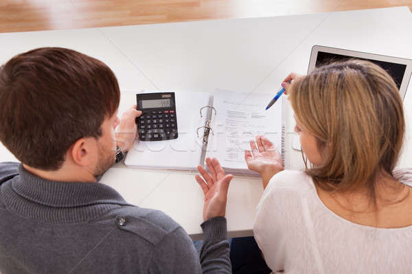 Couple argue about money Stock photo © AndreyPopov