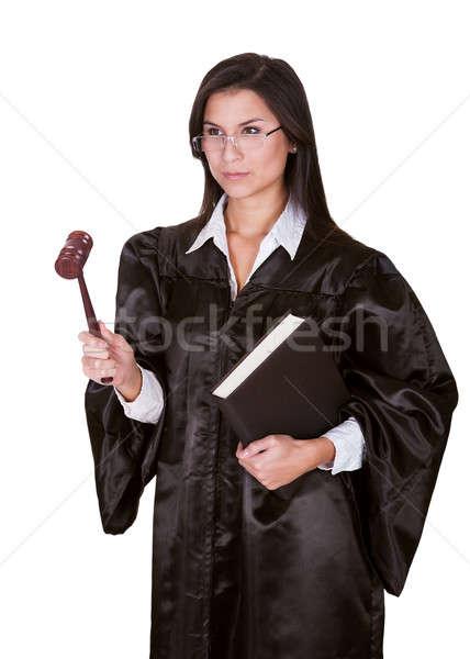 Kadın yargıç cüppe tam uzunlukta portre Stok fotoğraf © AndreyPopov