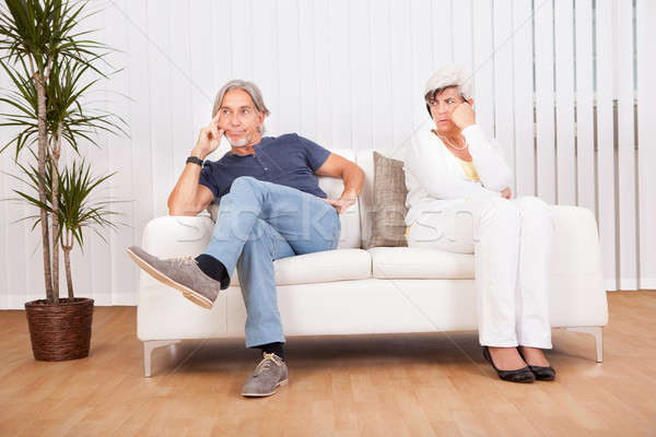 Senior couple after an argument Stock photo © AndreyPopov