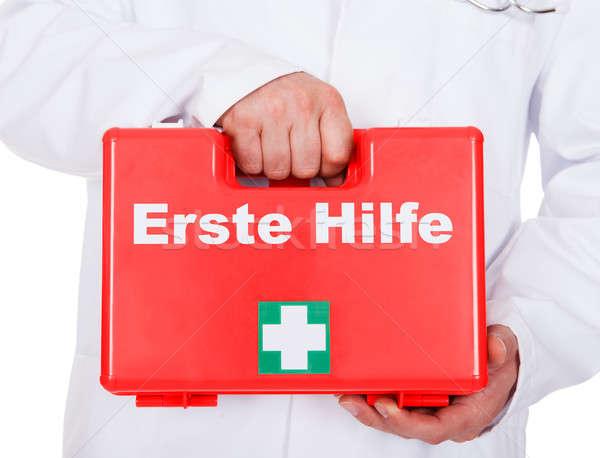 Erkek doktor taşınabilir ilk yardım doktor Stok fotoğraf © AndreyPopov