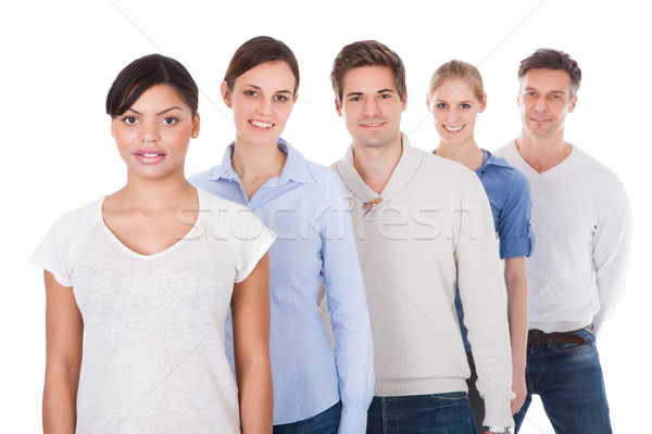 Group Of People Standing In A Row Stock photo © AndreyPopov