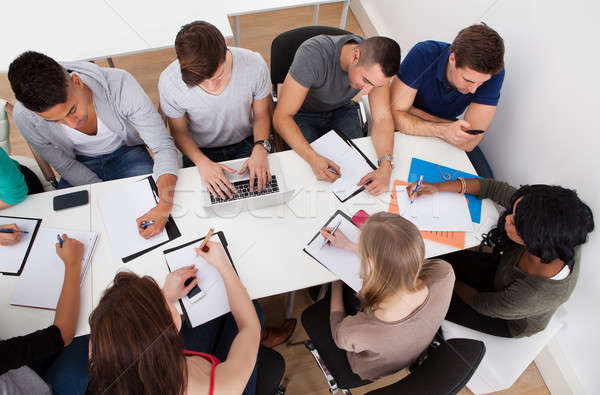 University Students Doing Group Study Stock photo © AndreyPopov
