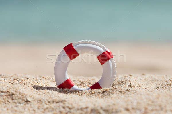 Miniatuur zandstrand strand veiligheid zomer Stockfoto © AndreyPopov