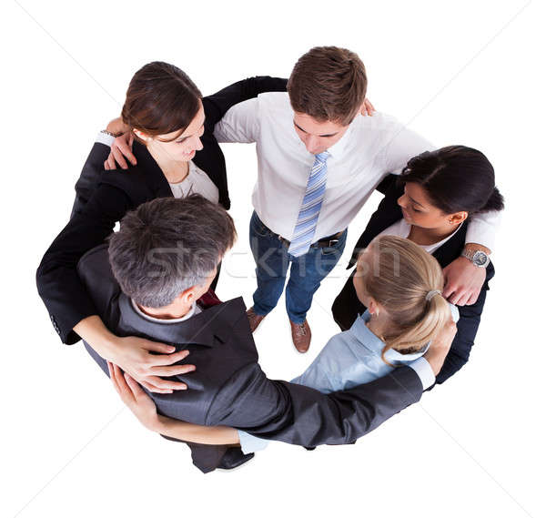 Multiethnic Businesspeople Forming Huddle Stock photo © AndreyPopov