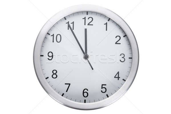 Clock Showing Five Minutes To Twelve Stock photo © AndreyPopov