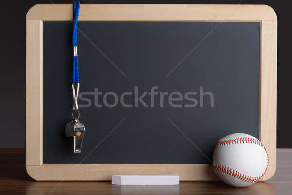 Slate With Baseball; Chalk And Whistle Stock photo © AndreyPopov