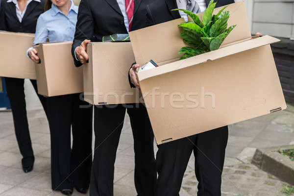 Businesspeople With Cardboard Boxes Stock photo © AndreyPopov