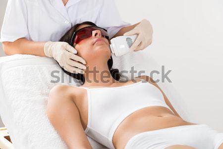 Donna laser capelli rimozione trattamento Foto d'archivio © AndreyPopov