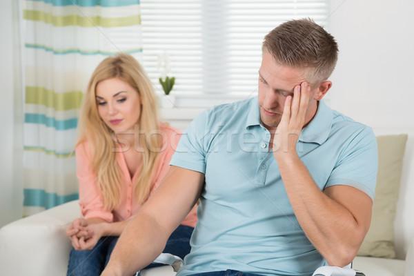 Infeliz casal argumento casa homem Foto stock © AndreyPopov