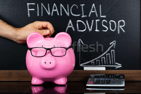 The Financial Advisor Concept On Blackboard Stock photo © AndreyPopov