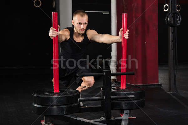 Man Working Out In The Gym Stock photo © AndreyPopov