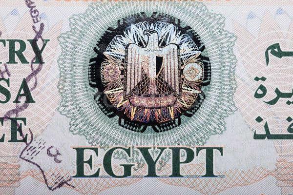 Egypt Entry Visa Fee Stock photo © AndreyPopov