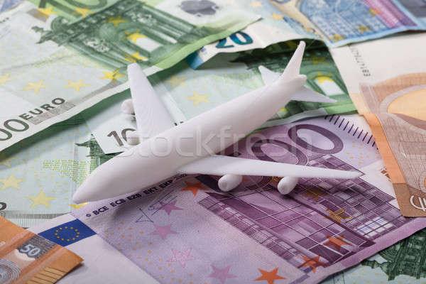 самолет евро белый бизнеса Сток-фото © AndreyPopov