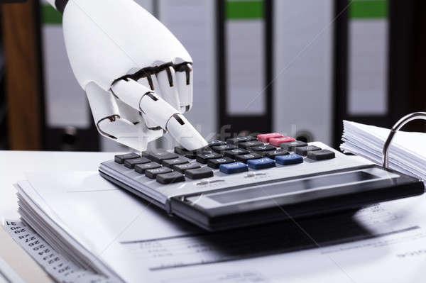 робота калькулятор стороны дизайна Сток-фото © AndreyPopov