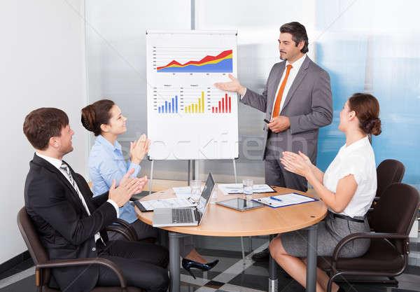 Biznesmen grupy koledzy prezentacji Zdjęcia stock © AndreyPopov