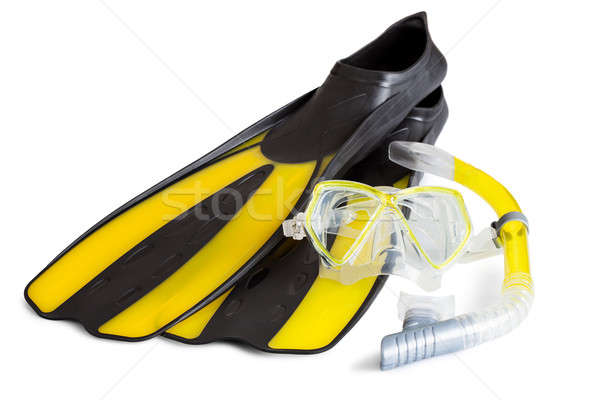 Flippers and snorkel Stock photo © AndreyPopov