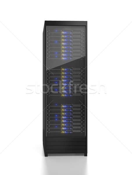Szerver rack kép izolált fehér számítógép iroda Stock fotó © AndreyPopov