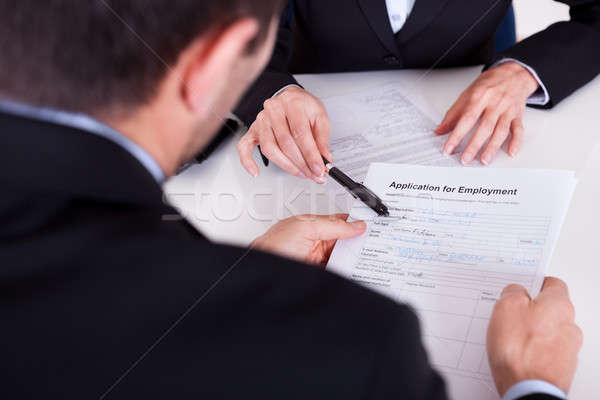 Employment interview and application form Stock photo © AndreyPopov