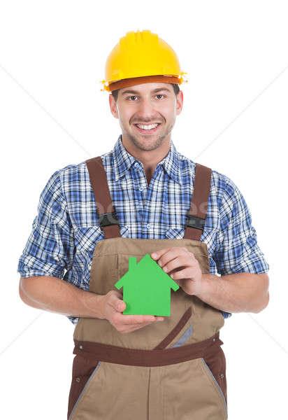 мужчины строителя теплица модель портрет Сток-фото © AndreyPopov