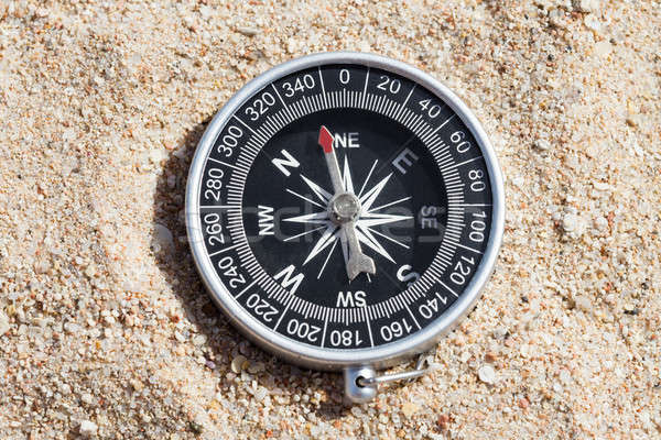 High Angle View Of Compass Stock photo © AndreyPopov