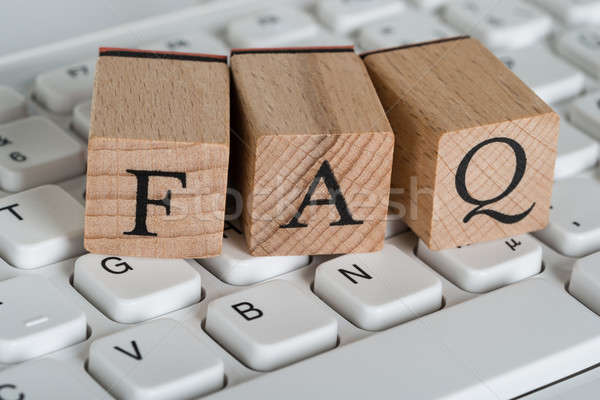 Faq Wooden Cubes Stock photo © AndreyPopov