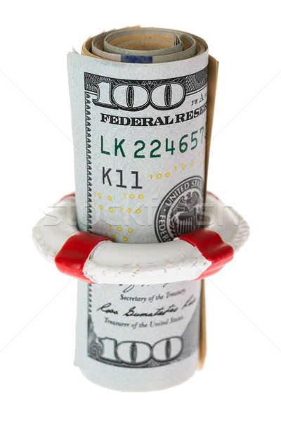 Life Belt Protecting Banknote Stock photo © AndreyPopov