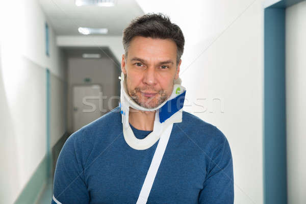 Disabled Man Using Cervical Collar Stock photo © AndreyPopov