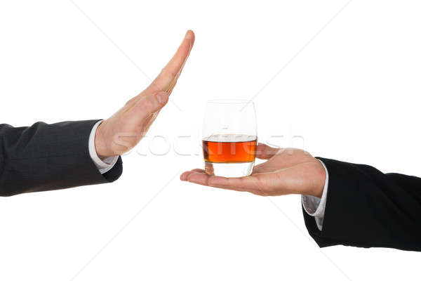 Businessman Avoiding Alcohol Stock photo © AndreyPopov