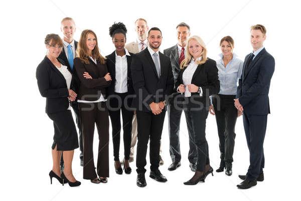 Portret zespół firmy stałego biały działalności Zdjęcia stock © AndreyPopov