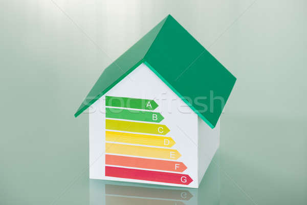 House Model Showing Energy Efficiency Rate Stock photo © AndreyPopov