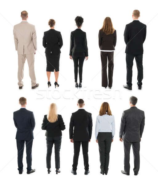 Rear View Of Businesspeople Standing In Row Stock photo © AndreyPopov