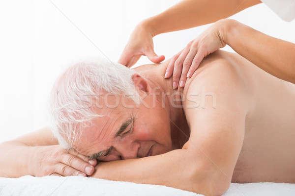 Man Receiving Back Massage Stock photo © AndreyPopov