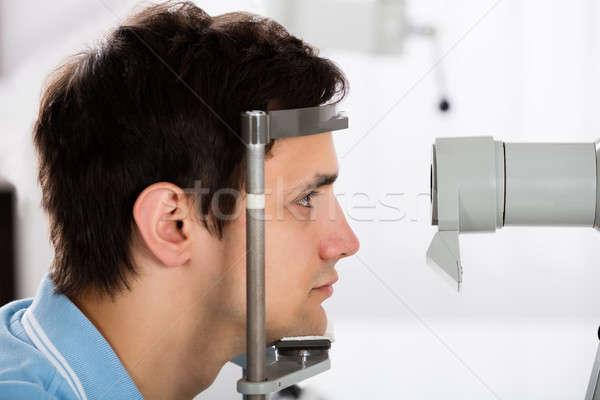 человека зрение клинике молодым человеком лице Сток-фото © AndreyPopov